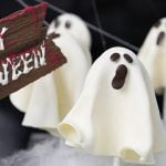 Chocolate Ghost Lollipops | Recipe by Kirsten Tibballs